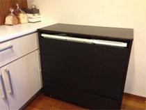 タモ集成材のキッチンカウンター