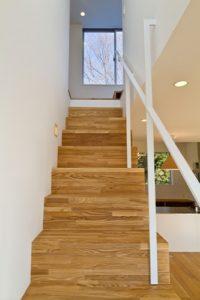 側板無しの組み立て階段