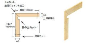 巾木トメ加工(一体化)