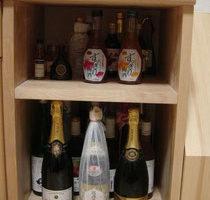 カバ桜積層材のお酒専用棚