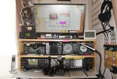 ゴム集成材の無線機のラック