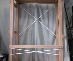 ゴム集成材の移動自由な多機能のハンガーラック