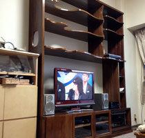 タモの壁面収納TVボード