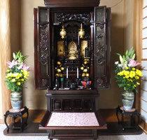 タモ集成材のお仏壇用の段差解消板