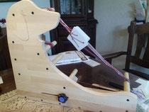 ブナ集成材のカード織り・インクル織りの織機