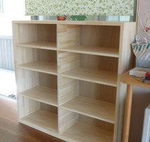 メルクシパイン積層材の学童保育所の本棚
