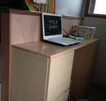 メルクシパイン集成材の作業台天板