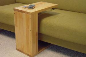 メルクシパイン集成材の自作サイドテーブル