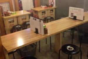 居酒屋さんのテーブルの天板