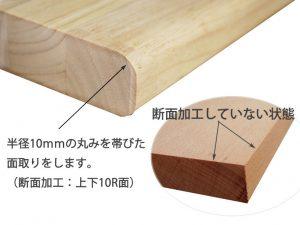 断面加工(上下10R面)