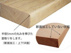 断面加工(上下5R面)