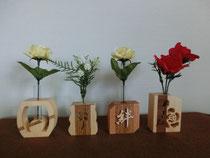 木工クラフト作品「一輪差し」