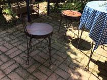 桧(無節)集成材の椅子の座卓板