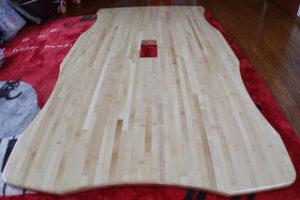 竹集成材のテーブル天板