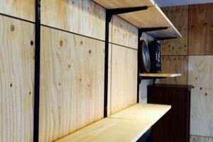 ゴム集成材の自作作り棚用の棚板
