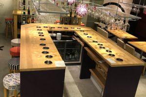ゴム・パイン集成材のカウンター・テーブル天板