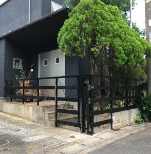米ヒバ無垢材のフェンス