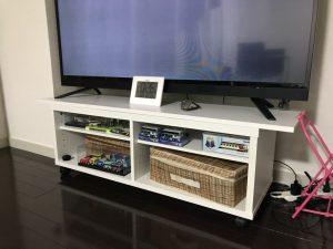 白ポリのTVボード天板