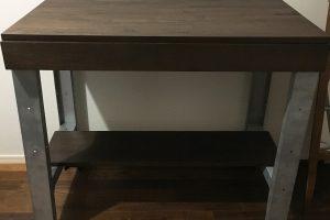 ナラ集成材のテーブル天板