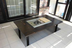 ゴム集成材フラットバーナー用アウトドアテーブル